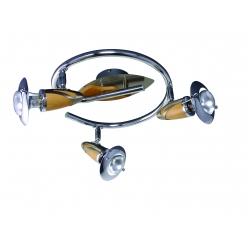 Spirala ZEUS 3X40W E14/R50 Satyna/Chrom/Drewno 319 PREZENT