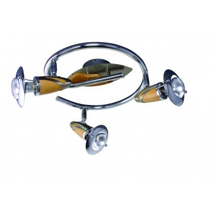 Spirala ZEUS 3X40W E14/R50 Satyna/Drewno 467
