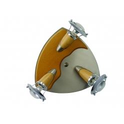 Plafon ZEUS 3X40W E14/R50 Satyna/Chrom/Drewno 320 PREZENT