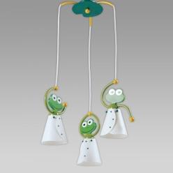 Lampa wisząca FROG 3X40W E14 Zielony/Żółty 28001