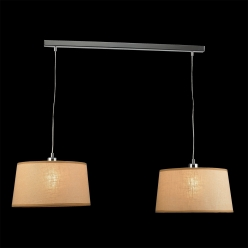 Lampa wisząca COMBO 2X60W E27 Beżowa 18053