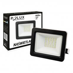 Naświetlacz LED 20W 200W zimna barwa światła, LPP20CWGB SMD IP65 POLUX - wysyłka 24h (na stanie 1 sztuka)