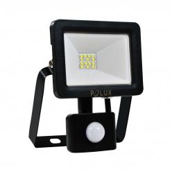 Naświetlacz LED z czujnikiem ruchu 10W 100W zimna barwa światła,  304780 IP65 POLUX- wysyłka 24h (na stanie 2 sztuki)