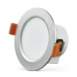 Oprawa podtynkowa 7W LED VENUS 470 lumenów srebrny szczotkowany 3585 POLUX/SANICO - wysyłka 24h (na stanie 3 sztuki)