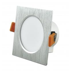 Oprawa podtynkowa 7W LED VENUS 470 lumenów srebrna szczotkowana 3622 POLUX/SANICO
