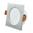Oprawa podtynkowa 6,3W LED VENUS 470 lumenów srebrny szczotkowany 3585 POLUX/SANICO