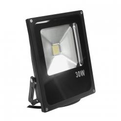 Naświetlacz LED 30W 300W zimna barwa światła, LPP30CWGB SMD IP65 POLUX - wysyłka 24h (na stanie 1 sztuka)