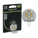 Żarówka POLUX LED SMD 1,5W 13-15W gwint G4 120lm ciepła/żółta barwa światła