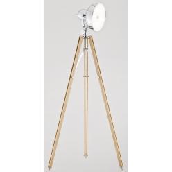 Lampa podłogowa 12W LED FOTO NEW 3354 drewno/chrom Argon
