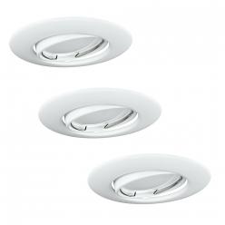 Zestaw 3 oczek OLIN 3x3,5W LED 306210 Biały POLUX/SANICO - wysyłka 24h (na stanie 10 zestawów)