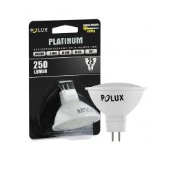 Żarówka POLUX LED SMD 3W 25W gwint MR16 250lm ciepła/żółta barwa światła-Wyprzedaż 2 sztuki