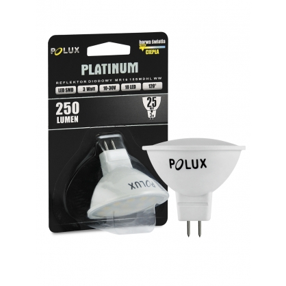 Żarówka POLUX LED SMD 3W 25W gwint MR16 250lm zimna/biała barwa światła