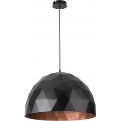 Lampa wisząca 1x60W E27 DIAMENT L czarny/miedź 31368 SIGMA - wysyłka 24h (na stanie 1 sztuka)