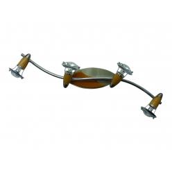 Listwa ZEUS 4X40W E14/R50 Satyna/Chrom/Drewno 321