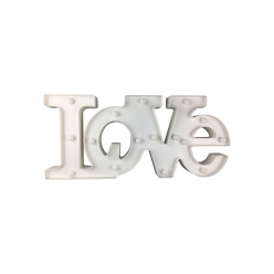 LOVE PLASTIKOWE LED