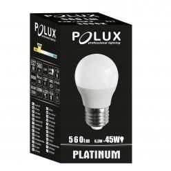 Żarówka POLUX LED 6,5W gwint E27 560lm ciepła/żółta barwa światła 303943 POLUX/SANICO- wysyłka 24h (na stanie 15 sztuk)