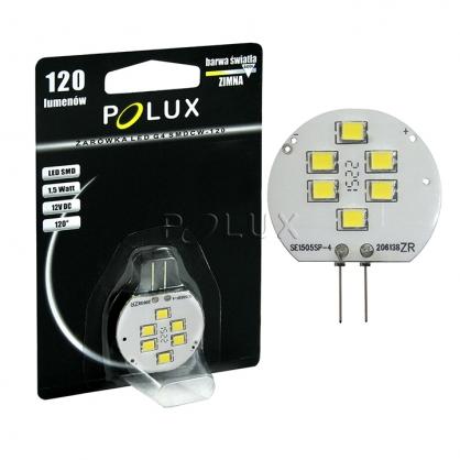 Żarówka POLUX LED SMD 1,5W 13W gwint G4 120lm zimna/biała barwa światła