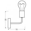 LAMPA ŚCIENNA KINKIET CANDELLUX SPILL 21-56528  E27 CZARNY