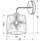 LAMPA ŚCIENNA KINKIET CANDELLUX NOSJA 21-62512  E27 CHROM