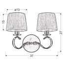 LAMPA ŚCIENNA KINKIET CANDELLUX CLARA 22-21564  E14 CHROM / BIAŁY