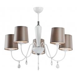 Lampa wisząca 5X60W E27 VALENCJA Brązowy 2036 Argon