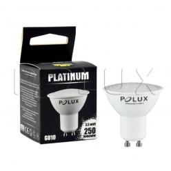 Żarówka POLUX LED SMD 3,5W 26W gwint GU10 250lm ciepła/żółta barwa światła POLUX/SANICO- wysyłka 24h (na stanie 80 sztuk)