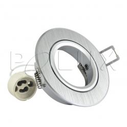 Oczko halogenowe EAST OPAL GU10 50W 301550 Srebrny szczotkowany POLUX- wysyłka 24h (na stanie 53 sztuki)