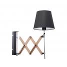 Lampa Kinkiet Mito chrom 1X40W E27 abażur czarny
