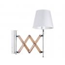 Lampa kinkiet Mito chrom 1X40W E27 abażur biały