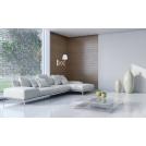 Lampa wisząca kinkiet biały chrom + drewno Mito Candellux 21-75437