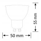 Żarówka LED SMD 3,8W 29W gwint GU10 300lm ciepła/żółta barwa światła POLUX/SANICO - wysyłka 24h (na stanie 30 sztuk)