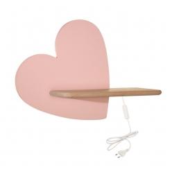 Kinkiet LED 5W lampka dziecka półka serce różowe Heart Candellux 21-84569