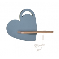 Kinkiet LED 5W lampka dziecka półka serce niebieskie Heart Candellux 21-84576