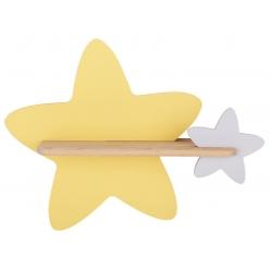 Kinkiet LED 5W dla dziecka żółto-szary gwiazdka Star Candellux 21-75611