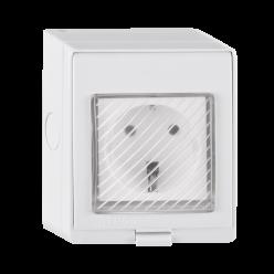 Gniazdo elektryczne zewnętrzne natynkowe Wi-Fi SMART TUYA 316011 POLUX/SANICO