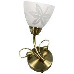 Kinkiet patynowy biały klosz ze wzorem 40W E14 Leila Candellux 21-94356