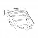 Naświetlacz LED solarny 150lm z czujnikiem ruchu i zmierzchu 315854 POLUX/SANICO