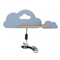Kinkiet LED 5W dla dziecka niebieska chmurka z półką Cloud Candellux 21-75710