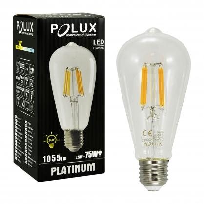 Żarówka dekoracyjna LED gwint E27 7,5W 806 lumenów POLUX/SANICO