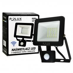 Naświetlacz LED z czujnikiem ruchu 20W 200W zimna barwa światła 304797 IP65 POLUX -wysyłka 24h (na 3 sztuki)