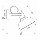 Kinkiet czarny/drewniany regulowany lampa E27 40W Reno 21-76748