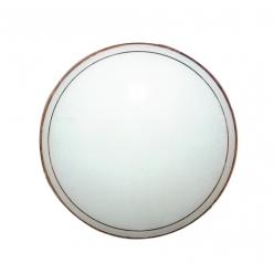 Klosz biały szklany okrągły do plafonu 25cm 62-28672