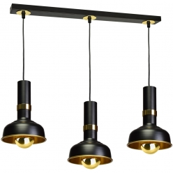 Lampa wisząca MARGO BLACK/GOLD 3xE27