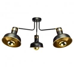 Lampa sufitowa MARGO 3xE27 BLACK/GOLD 3xE27
