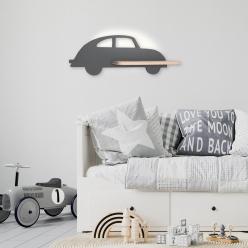 Lampa kinkiet półeczka 5W LED 4000K IQ Kids Car szary 21-85061