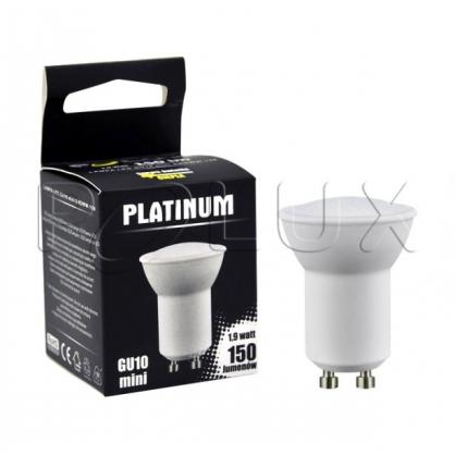 Żarówka mini POLUX LED SMD 1,9W 28W gwint GU10 140lm ciepła/żółta barwa światła