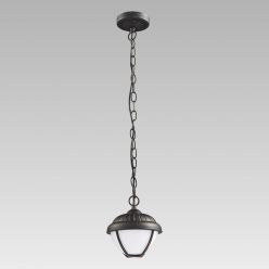 Lampa wisząca ogrodowa NEBRASKA 1X7W LED Patyna 39018 PREZENT IP44