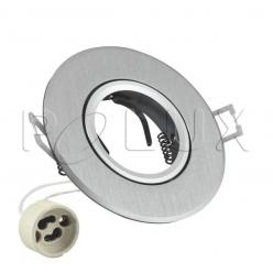 Oczko halogenowe WEST OPAL GU10 50W 302083 Srebrny szczotkowany POLUX- wysyłka 24h (na stanie 34 sztuki)