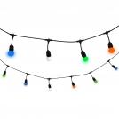 Girlanda ogrodowa 5,6 metra 10 żarówek kolorowych POLUX/SANICO