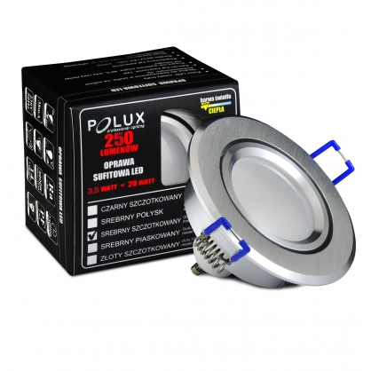 Oczko halogenowe SUN LED GU10 3,5W 20W 301192 Srebrny szczotkowany POLUX